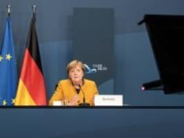 g20-gipfel: merkel ruft zu globaler kraftanstrengung gegen corona auf