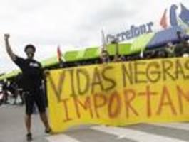 proteste in vielen städten brasiliens -aufruf zum boykott von supermarktkette