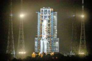 Raumfahrt: China startet unbemanntes Raumschiff zum Mond