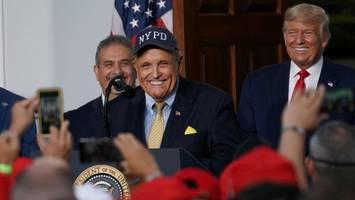 Rudy Giuliani: Trumpf schickt seine Bulldogge in den Kampf um die US-Wahl