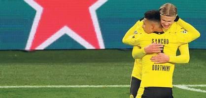 Haaland und Sancho befeuern Dortmunder Titelträume
