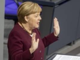 Corona-Pandemie: Merkel: Finanzhilfen nicht bis ultimo