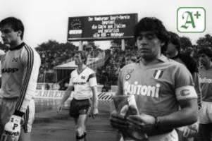 Erinnerungen an das Idol: Als Diego Maradona Hamburg verzauberte