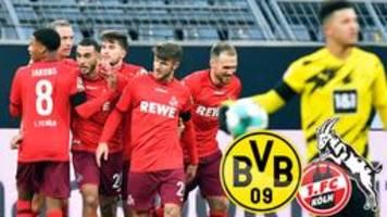 Bundesliga 9. Spieltag: Köln besiegt Dortmund mit 2:1