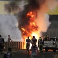 Formel 1: Feuer-Unfall überschattet Hamilton-Sieg in Bahrain