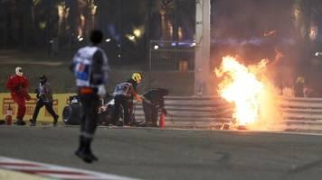 Formel 1 in Bahrain: Feuer-Unfall von Grosjean beim Start – Formel 1 unter Schock