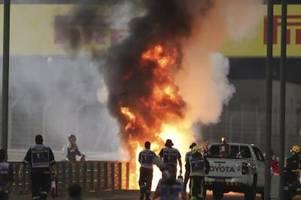 Feuer-Unfall beim Formel-1-Rennen in Bahrain: Glück im Unglück für Grosjean