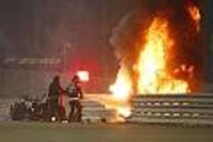 - Grosjean steckt 26 Sekunden in brennendem Auto fest: F1-Glücksengel rettet ihn