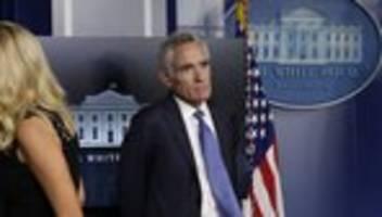 US-Regierung: Umstrittener Corona-Berater von Trump reicht Rücktritt ein