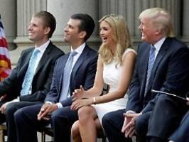 Wovor will er sie schützen?: Trump will engsten Familienkreis begnadigen