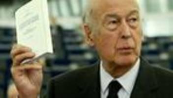 Valéry Giscard d'Estaing: Früherer französischer Präsident gestorben