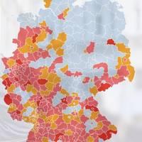 Corona-Pandemie: Inzidenz: Ein paar Kreise und Städte sind noch keine Corona-Hochburgen