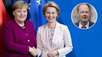 Ursula von der Leyen und Angela Merkel in der EU: Große Reden,  nichts dahinter