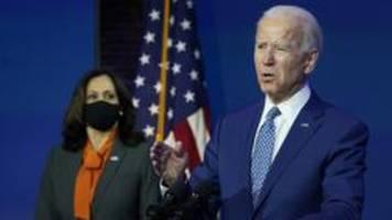 Biden und Harris: US-Bürger sollen 100 Tage Maske tragen
