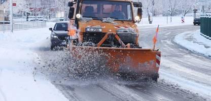 wetter in deutschland: schnee-glätte behindert verkehr in teilen des landes