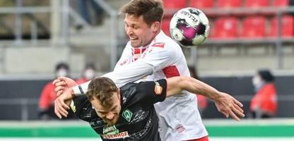 DFB-Pokal: Werder Bremen zieht durch knappen Sieg in Regensburg ins Halbfinale ein