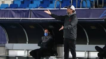 champions league: liverpool gegen real vor dem aus - klopp-Ärger über brych