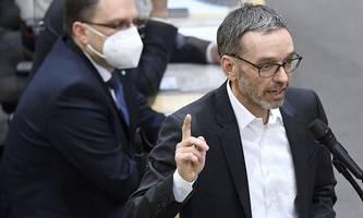 hofer will, dass kickl im parlament eine maske trägt
