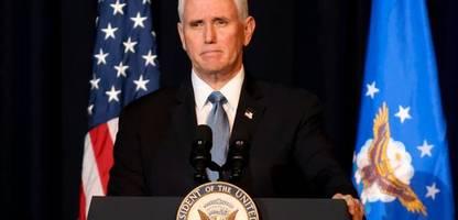 USA: Mike Pence kündigt Memoiren an