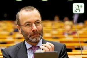 außenpolitik: evp-chef manfred weber droht putin mit schärferen sanktionen