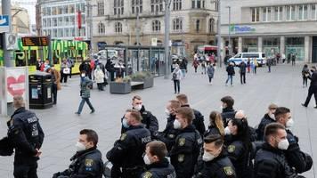 Keine Chance für Corona-Proteste in Leipzig und Halle