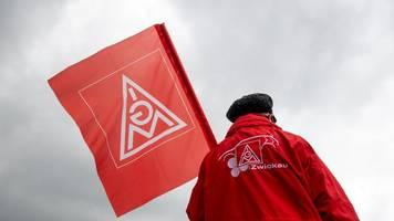 Protest von Beschäftigten der Metall- und Elektroindustrie