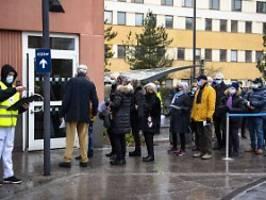 Fallzahlen steigen weiter an: Schweden hat höchste Inzidenz Europas