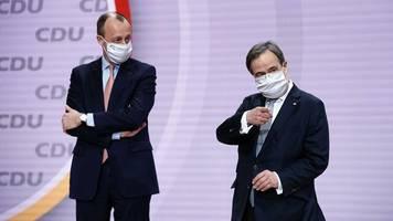 CDU-Chef oder CSU-Chef?: Friedrich Merz stärkt Armin Laschet in der K-Frage den Rücken