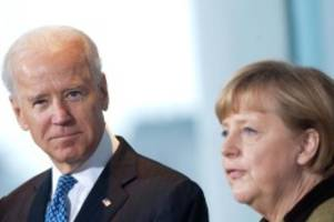 Ukraine-Konflikt: Merkel und Biden fordern russischen Truppenabzug