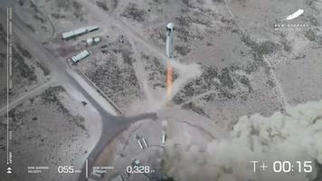 Raumfahrt: Raumfahrtfirma von Amazon-Gründer Bezos testet erneut Rakete