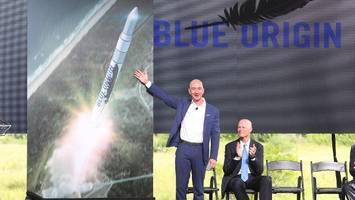Raumfahrtfirma von Amazon-Gründer Jeff Bezos testet Rakete