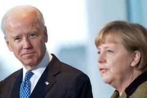 Merkel und Biden fordern russischen Truppenabzug