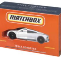 Mattel stellt das einzigartige CarbonNeutral® Matchbox® Tesla Roadster Die-Cast-Fahrzeug vor, das zu 99% aus recycelten Materialien hergestellt wurde und als Brand Blueprint dient