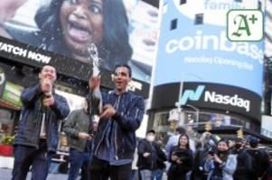 krypto-währungen: coinbase-börsengang: bitcoin und co. werden salonfähig