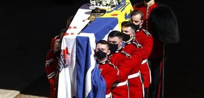 prinz philip: ehemann von queen elizabeth ii auf schloss windsor beigesetzt