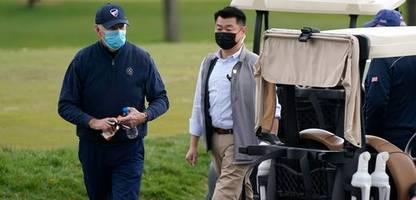 US-Präsident Joe Biden geht nach drei Monaten zum ersten Mal in seiner Amtszeit Golfen