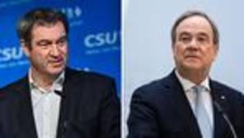 Kandidatenfrage der Union: Frist für Armin Laschet und Markus Söder läuft ab
