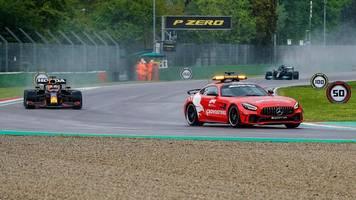Grand Prix der Emilia Romagna: Formel-1-Rennen von Imola nach Crash unterbrochen