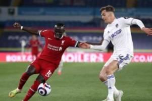 Premier League: FC Liverpool nur 1:1 bei Leeds United