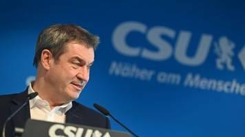 Kanzlerkandidatur der Union - Söder: Entscheidung zur K-Frage obliegt alleine der CDU