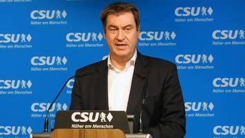 Kanzlerfrage in der Union: Söder: Die CDU entscheidet allein