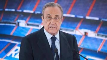 Super League-Boss Florentino Perez: Wollen den Fußball retten