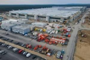 Auto: Tesla-Fabrik: Bei Auslastung 12 000 Mitarbeiter