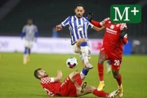 Hertha BSC: Abstiegskampf nimmt Form an: Hertha geht's nicht