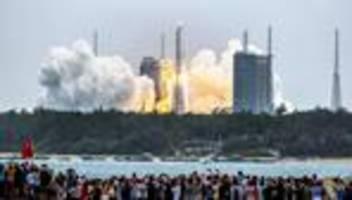 Raumfahrt: China startet Transportrakete für Bau einer eigenen Raumstation