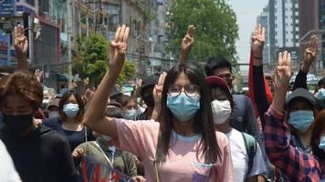 Nach Militärputsch - UN: Myanmar-Proteste stellen Militär vor Schwierigkeiten