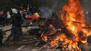 proteste am 1. mai – eskalation nach party in brüssel,  festnahmen in paris