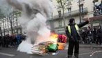frankreich: ausschreitungen bei kundgebungen in paris