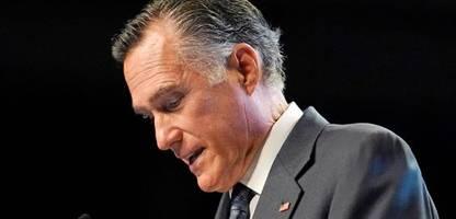 Mitt Romney: US-Republikaner buhen Senator und Donald-Trump-Kritiker auf Parteitag aus
