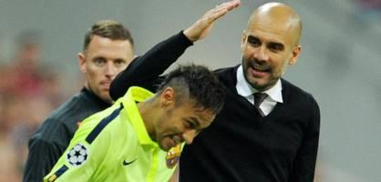"""guardiola erwartet """"große schlacht"""", neymar will zum """"krieger"""" werden"""